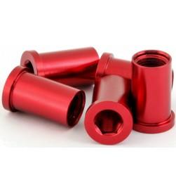 Hembra MSC M8x16/18mm Aluminio Rojo (Unidad)
