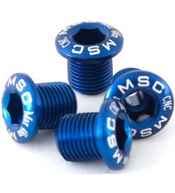 Kit 4 Tornillos Plato MSC M8x8/8.5 Azul