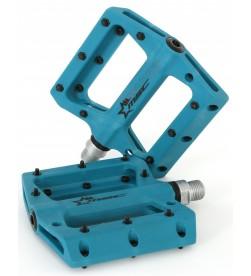 Pedales Plataforma MSC Nylon Eje Crmoly Azul