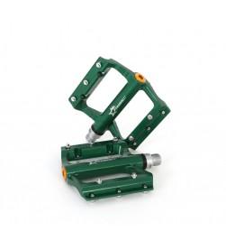 Pedales plataforma MSC aluminio Verde anodizado