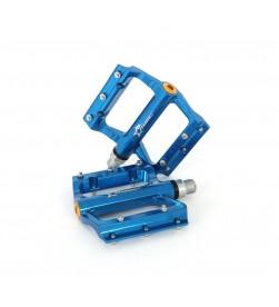 Pedales plataforma MSC aluminio Azul anodizado