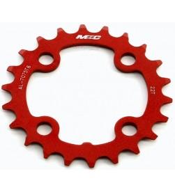 Plato 22 Dientes MSC Aluminio 64mm Rojo 4 Brazos