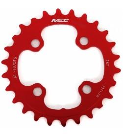 Plato 26 Dientes MSC Aluminio 64mm Rojo 4 Brazos