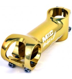 Potencia MSC Ultralight Line 31.8mm 6º Tornillos titanio Dorado (Diferentes Medidas)