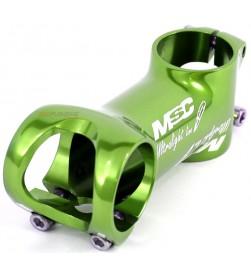 Potencia MSC Ultralight Line 31.8mm 6º tornillos titanio Verde