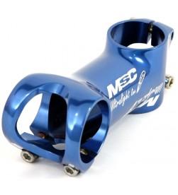 Potencia MSC Ultralight Line 31.8mm 6º Tornillos titanio Azul (Diferentes medidas)