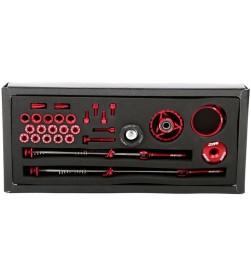 Set Tornilleria Aluminio MSC Ultralight Rojo