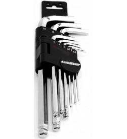 Set llaves Allen MSC cromadas (10 piezas)