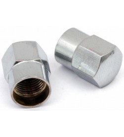 Tapones válvula MSC Aluminio Schrader Plata