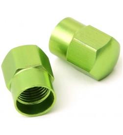 Tapones válvula MSC Aluminio Schrader Verde