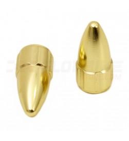 Tapones válvula MSC Aluminio válvula Presta/FV/fina Dorados