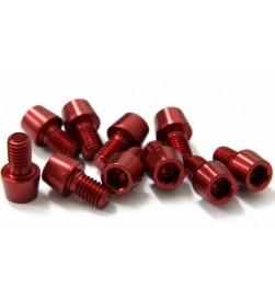 Tornillo Aluminio MSC M6 Rojo (Varias longitudes)