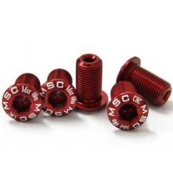 Tornillo Plato Alum MSC M8x13.5 Rojo
