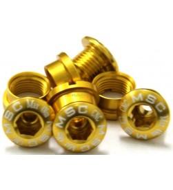 Tornillos Plato Aluminio MSC 4 tornillos + 4 tuercas M8x5.5/6.5 Dorado