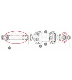 Kit eje delantero Mavic QRM+ para 6tornillos boost 15x110mm en Deemax Pro y Crossmax Pro