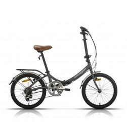 """Bicicleta Megamo Plegable 20"""" Zambra Gris"""