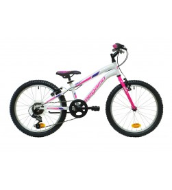 "Bicicleta Megamo 20"" Open Junior Girl Blanco Rosa"