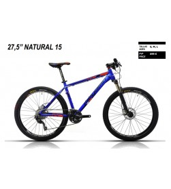 """Bicicleta Megamo 27,5"""" Natural 15 Azul 2015"""