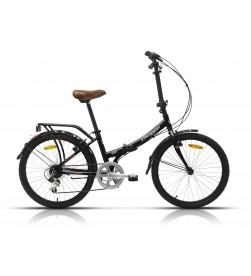 "Bicicleta Megamo Plegable 24"" MAXI (Negro)"
