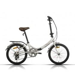 "Bicicleta Megamo Plegable 20"" Zambra Blanca"