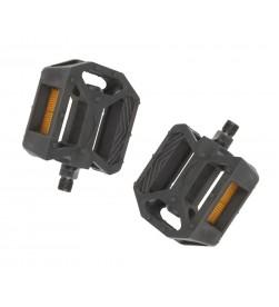 "Pedales Plataforma MTB PVC Negro 1/2"""