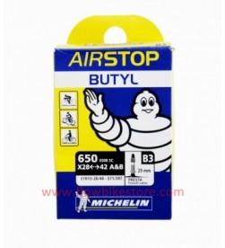 Cámara Michelin Airstop butyl B3 650A&B (28/44-571/597) válvula fina