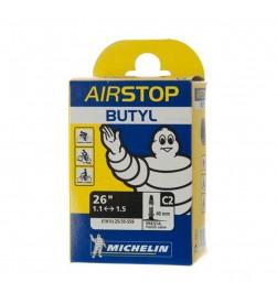 Cámara Michelin Airstop butyl C2 26x1.1-1.5 (25/35-559) válvula fina