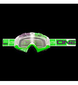 Máscara Oneal B-Flex ETR Blanco/Verde Transparente