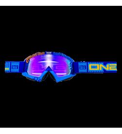 Máscara Oneal B-Flex ETR Azul/Naranja Radium
