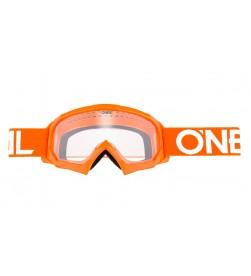 Máscara Oneal B-10 Solid Youth Joven Naranja Lente clara
