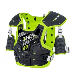 Peto protector Oneal PXR Stone Shield Negro/Fluor