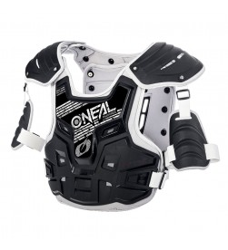 Peto protector Oneal PXR Stone Shield Negro/Gris