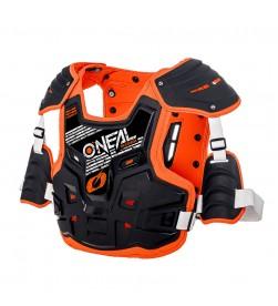 Peto protector Oneal PXR Stone Shield Negro/Naranja