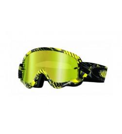 Máscara Oakley XS O-Frame MX Digi-Slash Gris-Amarilla-Negra w/24k