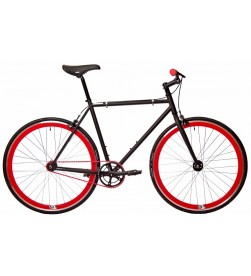 Bicicleta Fixie Origin 8 Negro y Rojo