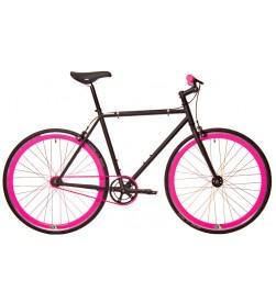 Bicicleta Fixie Origin 8 Negro y Rosa