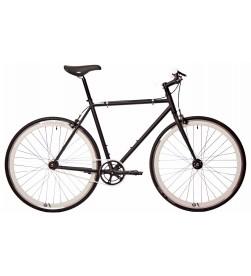 Bicicleta Fixie Origin 8 Negro y Blanco