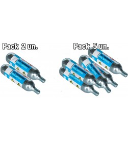 Bombona CO2 Comprimido Pro 25grs Roscada (Pack 2 / 5 Uni)