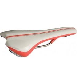 Sillin PRO Griffon Titanio Blanco/Rojo (132mm)