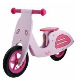Bicicleta Aprendizaje Madera Vespa Rosa