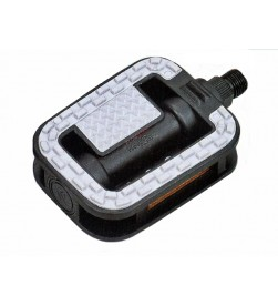 Pedales Comfort PVC Negros Reflectantes