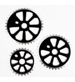 Plato BMX Negro CNC AM44 (Diferentes tamaños)