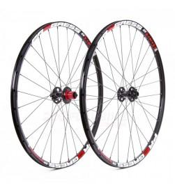 """Pareja ruedas Progress XCD-1 29"""" negras 9/15x100 del,  9x135 detrás"""