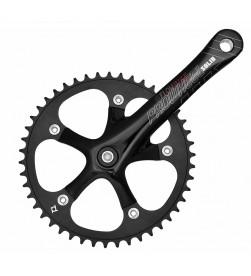 Bielas Prowheel Solid Fixie Paseo Cuadradillo 175mm + Plato 46 Dientes Color Negro