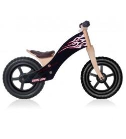 "Bicicleta aprendizaje Rebel Kidz 12"" Negro Llamas"