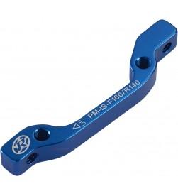 Adaptador de freno Reverse IS-PM Delantero 160mm/Trasero 140mm Azul Oscuro
