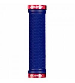 Puños Reverse Lock-On Azul Oscuro/ Rojo 29mm