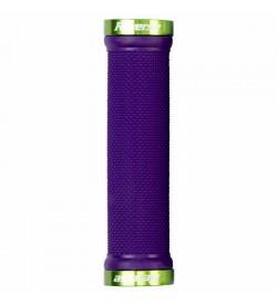 Puños Reverse Lock-On Morado / Verde Manzana 29mm