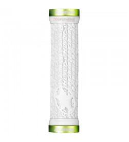 Puños Reverse Stamp Lock-on Blanco / Verde Manzana 30mm