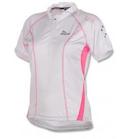 Jersey Rogelli Bara Blanco Rosa Fluorescente